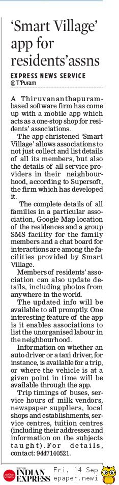 Smart Village in news